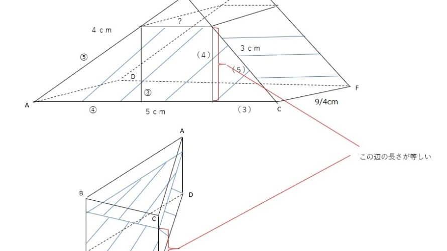 開成中学入試問題「算数」を徹底解説、平成29年度「算数」大問4(5)図形ー第8回