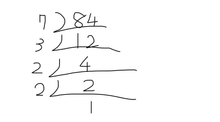 1つの数を素因数分解する